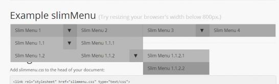 スマホ向けサイトで多階層メニューを実現するjQuery slimMenu
